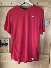 Mens Nike Running Dri-Fit T-Shirt, XL, Red, Worn Twice