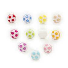 50pcs Shank football Nylon Buttons Clothing Sewing Scrapbooking Decor Home 13mm