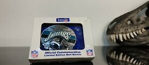 Vintage Numbered NFL Pewter Belt Buckle Jacksonville Jaguars Limited Edition