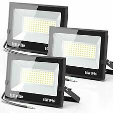 Ustellar 3 Pack 80W Led Flood Lights Outdoor Bright 8000LM Security 80w