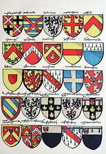 Heraldik Wappen Vlies Gold- Ecu artois Wappen Belgien Flandern Maldegem