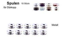 Spulen für DÜRKOPP 211, 212, 271, 272, 265; Metall Schlitz, 10 Stück