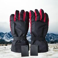 US Electric Battery Heated Gloves Thermal Motorcycle Bike Scooter Winter Outdoor