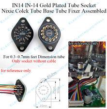 1X IN14 IN-14 Gold Plated Tube Socket Nixie Colck Tube Base Tube Fixer Assembled