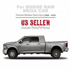 Chrome Window Vent Visors RainGuard Tap for Dodge Ram Crew/Mega Cab 2009 - 2018