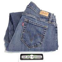 LEVI'S 529 Women's CURVY BOOTCUT Medium Dark Wash Blue Jeans Size 12S 31x28, EUC