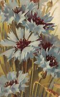 Vintage 1909 Tucks Art Series Postcard, Blue Cornflowers BH3