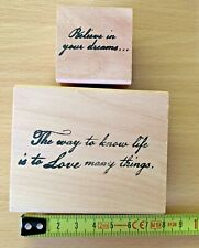 Saying Believe In Magic Wood Mounted Rubber Stamp Northwoods DD9328 New