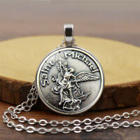 Archangel St Michael Prayer Protection Shield Saint Pendant Necklace Orthodox