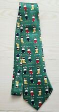 Cape Cod Neckwear Necktie Stockings Golf Clubs Tees Christmas 100% Silk Green