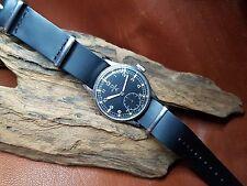 RARE ANNI'40 W.W.W. Omega SPORCA DOZZINA CAL:30T2 Quadrante Nero Cinturino Nero Man's Watch
