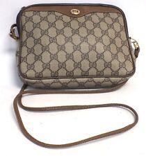 Femmes GUCCI vintage GG signature Sac Bandoulière Cross Body Bag-S10