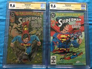 Superman #82 Regular/Collectors set - DC - CGC SS 9.6 - Sig by Jurgens, Breeding