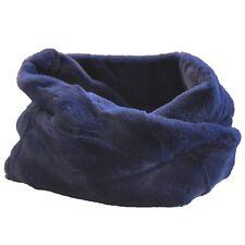 Bufanda Cerrado Azul Con Lana De Conejo Redondo Pañuelo Chalina Pelo Teddy Rollo
