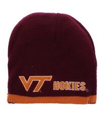 size 40 25435 0b671 Virginia Tech Hokies Embroidered Beanie Hat Reversible Knit Skull Cap