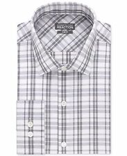 Kenneth Cole Dress Shirt Mens Slim Fit Long Sleeves Performance 100% Cotton