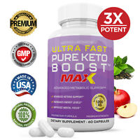 Ultra Fast Pure Keto Boost Max 1200MG Ketogenic Supplement BHB Weight Loss Pills