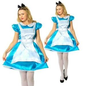 ALICE IN WONDERLAND ADULT LADIES BOOK DAY HALLOWEEN FANCY DRESS COSTUME OUTFIT