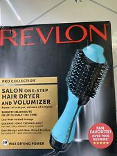 Revlon Pro Collection Salon One Step Hair Dryer and Volumizer Teal NEW .Open Box