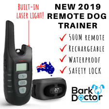 BARK DOCTOR PS2 REMOTE TRAINING COLLAR USB rechargeable *w/ LASER LIGHT* 3 MODES