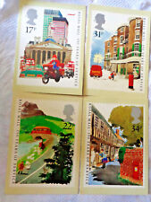 Lot of 4  Post Cards Royal Mail 350 years of Service from Stamps Paul Hogarth