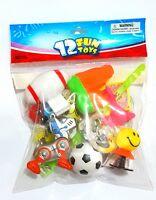 12 PCS Boy Fun Toys MIX-H Kids Pinata Bag Fillers Loot GAG Birthday Party Favors