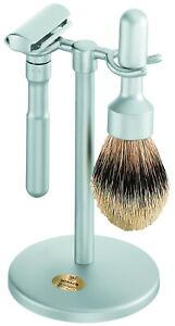 Shaving Set Futur Safety Razor Silvertip Badger Brush Merkur Dovo Solingen