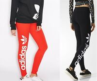 ADIDAS ORIGINALS LINEAR LEGGINGS - Black -Red