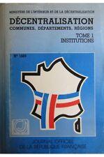France - Décentralisation, communes, départements, régions (Journal officiel de