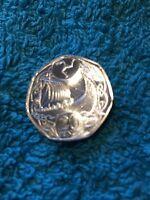 Isle of Man 2017 IOM Viking Long Boat Ship 20p 20 Twenty Pence Coin Odins Raven