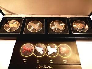 """""""Golden Enigma Edition""""... 4 tolle  veredelter Silber Münzen..."""