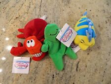3 The Disney Store - Mini Bean Bag Plush - Little Mermaid & Flubber