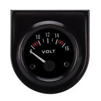 Black Face 2 Inch 52mm Voltmeter Volt Voltage Gauge Meter 12V LED Boat Car Auto