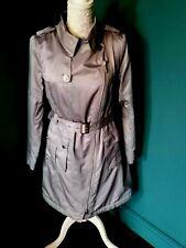 Per Una - Ladies Light Grey Shower Resistant Rain Coat UK 10