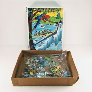 Vintage Whitman The Amazing Spider Man Puzzle 1982 Marvel Complete w/Box GUC