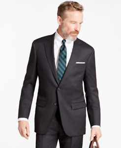 Brooks Brothers Madison Fit Stretch Wool Two-Button Charcoal Jacket 88815 Sz 40R