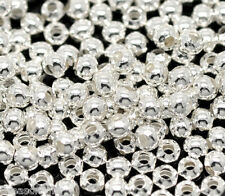 1000 Silver Plated Smooth Round Spacers Beads 3mm GIFT
