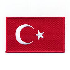 80 x 50 mm Türkei Flagge Türkiye Cumhuriyeti Patch Aufnäher Aufbügler 0633 X