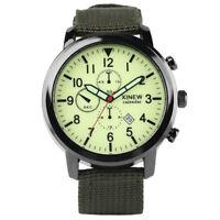 Luminous  Analog Date Display Nylon Band Strap Quartz Wrist Watch Sport Men