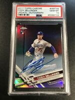 CODY BELLINGER 2017 TOPPS CHROME UPDATE AUTO REFRACTOR ROOKIE RC PSA 10