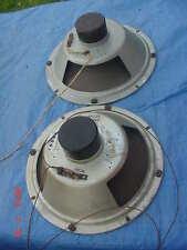 "Vintage Audio Speaker 12"" Pair Stereo Radio Tube Amp Amplifier HiFi Receiver"