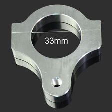 33MM cnc steering damper stabilizer support fourche tube clamp argent