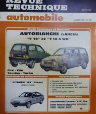 AUTOBIANCHI Y10 FIRE FILA TOURING TURBO 4WD 4X4 REVUE TECHNIQUE RTA 481 1987