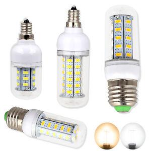 LED Corn Bulb E12 E27 5730 SMD 24 - 72LEDs  AC 110V 220V Warm Cool White Lamps