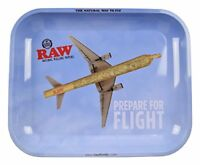 RAW Flying High - Metal Rolling Papers Tray Large 11 x 13.5 with Certificate