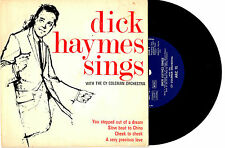 "DICK HAYMES SINGS WITH CY COLEMAN ORCH. - EP 7"" 33 VINYL RECORD PIC SLV"