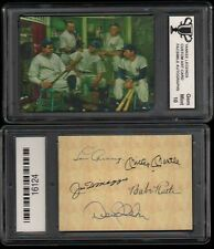 Yankee LEGENDS Facs Autograph ART Card GRADED 10 GEM Mickey Mantle Babe Ruth #T