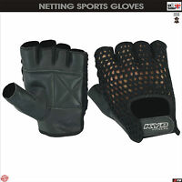 Mesh WHEELCHAIR Gloves Leather Weight Lifting Gym Driver Driving Cycling Mitts