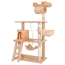 "Cat Tree House Furniture Condo 62"" Pet Play Tower Scratching Post for Cats"