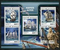 GUINEA BISSAU  2017 TALL SHIPS  SHEET MINT NH